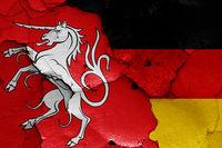 flags of Schwabisch Gmund and Germany