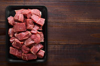 Fresh Raw Diced Beef Meat