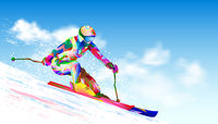 Alpine skiing athlete