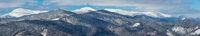Winter snowy Carpathian mountains, Ukraine