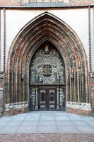 Gothic St. Nikolai Church, Nikolaikirche - west portal