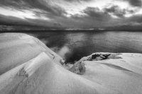 Stormy weather, Barents Sea, Soeroeya Island, Finnmark, Norway