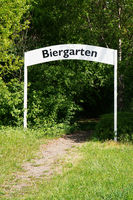 biergarten or beer garden entry sign