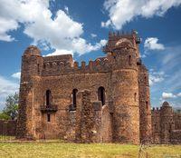 Fasil Ghebbi, castle in Gondar, Ethipia Heritage