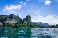 Cheow Lan Lake cliffs, Khao Sok National Park, Thailand