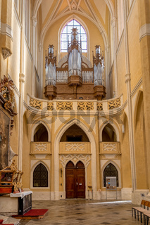 Cathedral interior Kutna Hora. Czech Republic