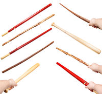 collection of various wood sticks as a weapons