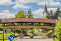 Titisee-Neustadt in the Black Forest with the district Titisee, pedestrian bridge
