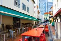 Empty table street restaurant Singapore