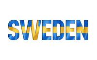 sweden flag text font