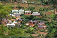 Rural settlement near Antananarivo, Madagascar