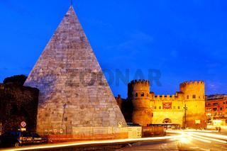 Pyramid of Cestius and Porta San Paolo