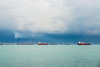 View of the Singapore Strait