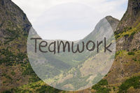 Valley And Mountain, Norway, English Text Teamwork