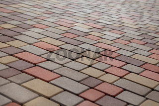 Photo of multi-colored paving stones pattern and background