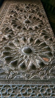 Geometrical engraved bronze decorations of the main entrance of Al Moaayad mosque, Cairo, Egypt