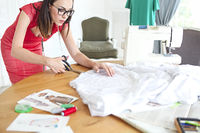 Fashion designer woman working on her designs