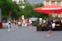 Blurred street scene