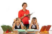 Strict teacher grades students