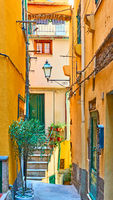Picturesque street in Vernazza town