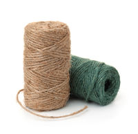 Two skeins of natural jute twine