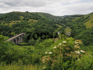 Headstone Viaduct at Monsal Head and now part of the Monsal Trail Wye valley, Peak District, UK
