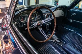 Interior of sports car Chevrolet Corvette Sting Ray (C2).