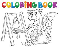 Coloring book painting dragon theme 2