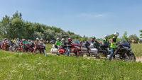 Motor bikers Honda Goldwing ready for a drive through Hungary