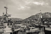 Tromso harbour in winter