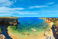 Sicily summer sea beach panorama, Italy