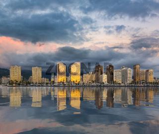 Panorama of Waikiki Honolulu Hawaii