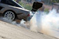 Car drift smoke tire