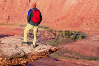 Man on the cliff