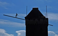 balancing figure in Esslingen, Germany
