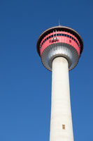 CALGARY, ALBERTA, CANADA - MARCH 7, 2009: The Calgary Tower in Downtown Calgary, Alberta