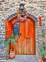 Traditional house in Mesta of Chios, Greece
