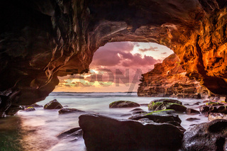 Ocean views from inside the sea cave