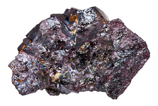 rough Cuprite stone isolated on white