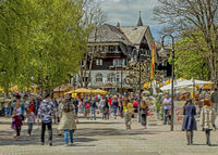 Titisee-Neustadt in the Black Forest with the district Titisee, pedestrian zone