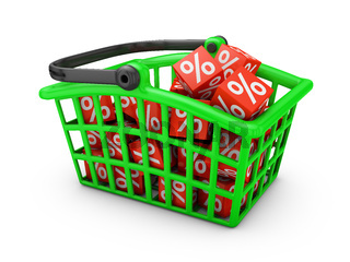 basket  with percentages
