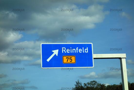 highway sign reinfeld, b 75