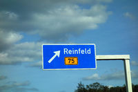 highway sign reinfeld, b 75