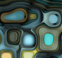 Abstract Futuristic Geometric Background With Curved Shapes