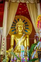 Buddha statue in Wat Phra Singh temple, Chiang Mai, Thailand