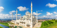 Istanbul Big Camlica Mosque, beautiful aerial view