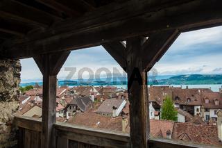 View of the city Murten