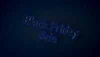 Black friday sale concept with blue light