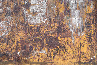 Rusty metallic steel plate