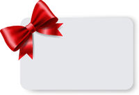 Blank Gift Tag With Red Ribbon Bow